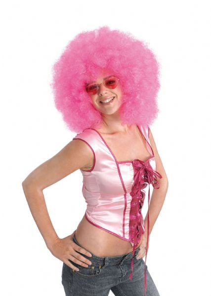 Adults Afro Mega Wig 70s Disco Hippie Fancy Dress